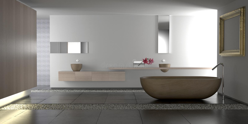 Modernes Luxuxbadezimmer stock abbildung