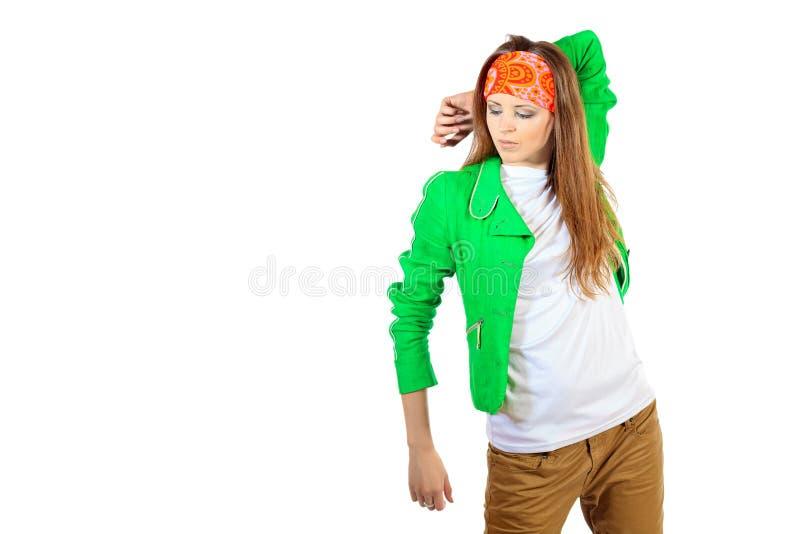 Modernes Mädchen stockfoto