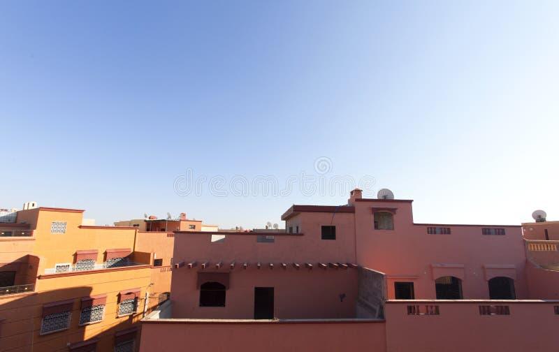 Modernes marokkanisches Gebäude stockfotografie
