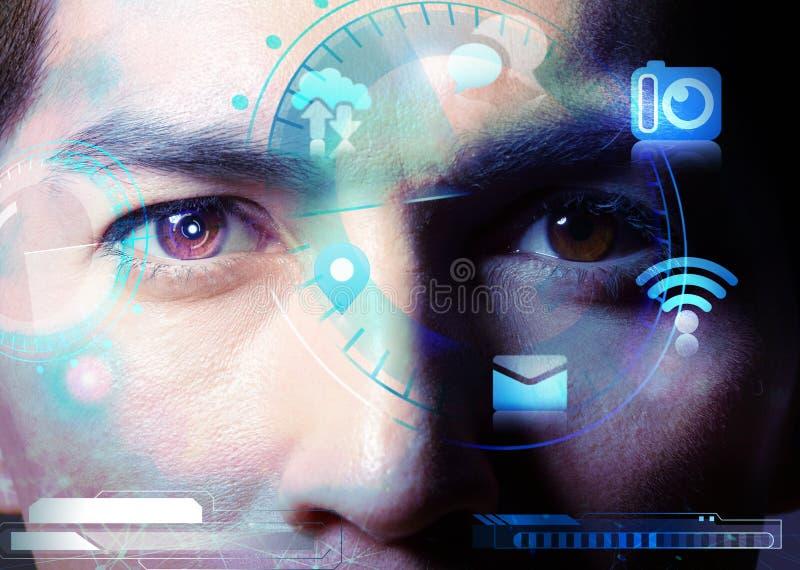 Modernes menschliches Technologieleben lizenzfreie stockfotografie