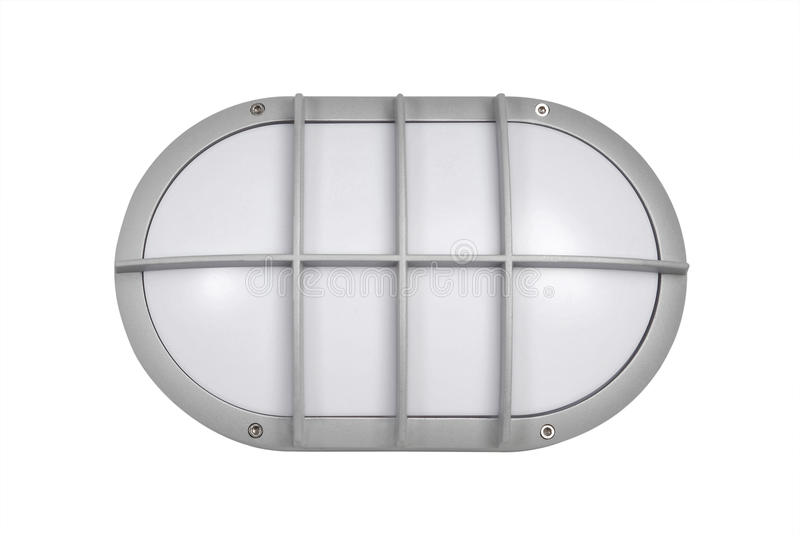 Modernes Metallstudio und beleuchtende LED-Hauptbeleuchtung stockbild
