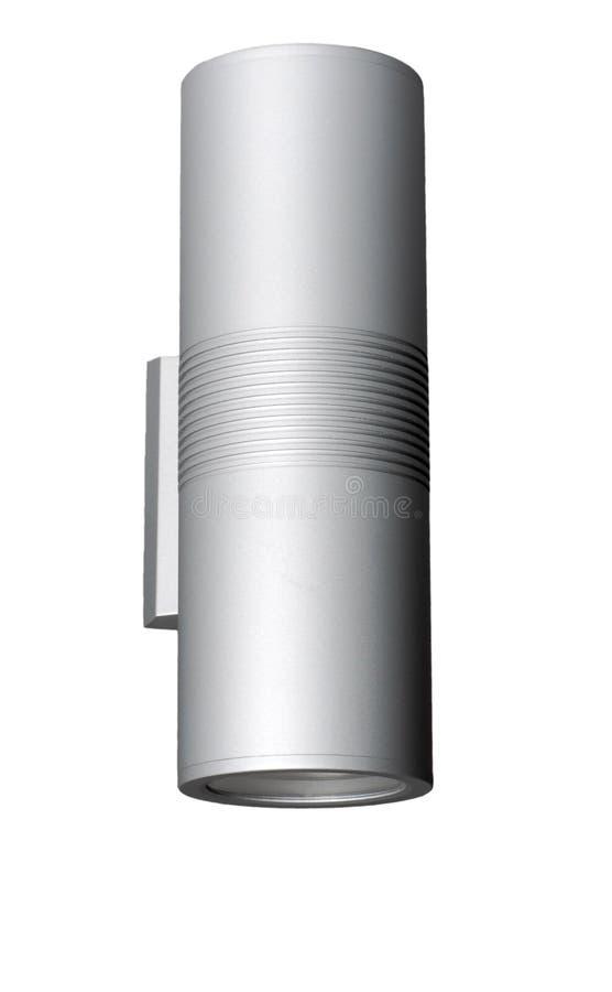 Modernes Metallstudiohaus, das LED-Beleuchtung beleuchtet stockfoto