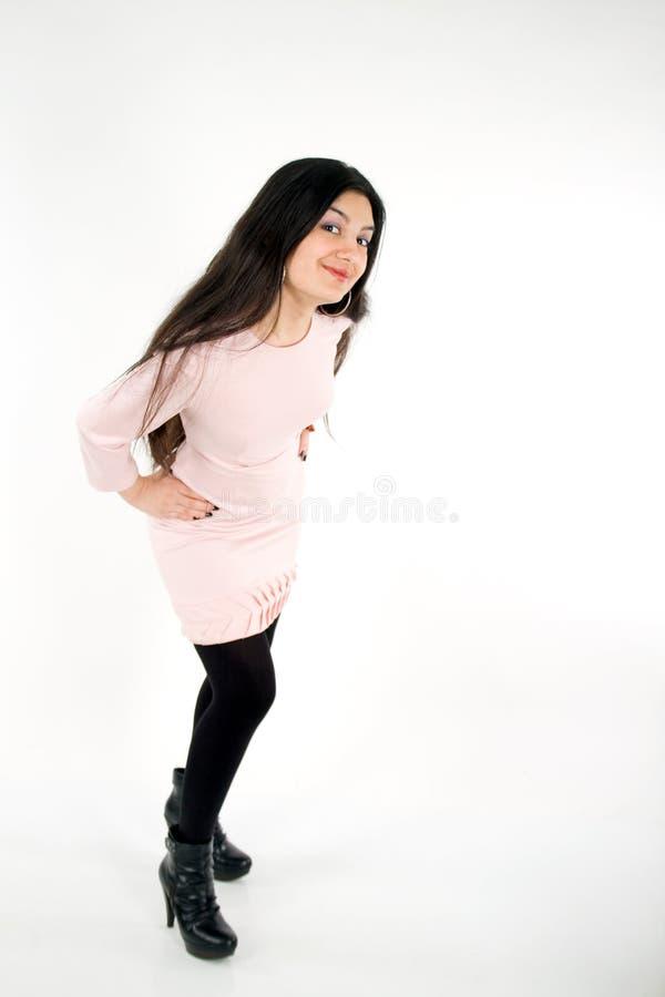 Modernes Portrait einer schönen Frau stockfotos