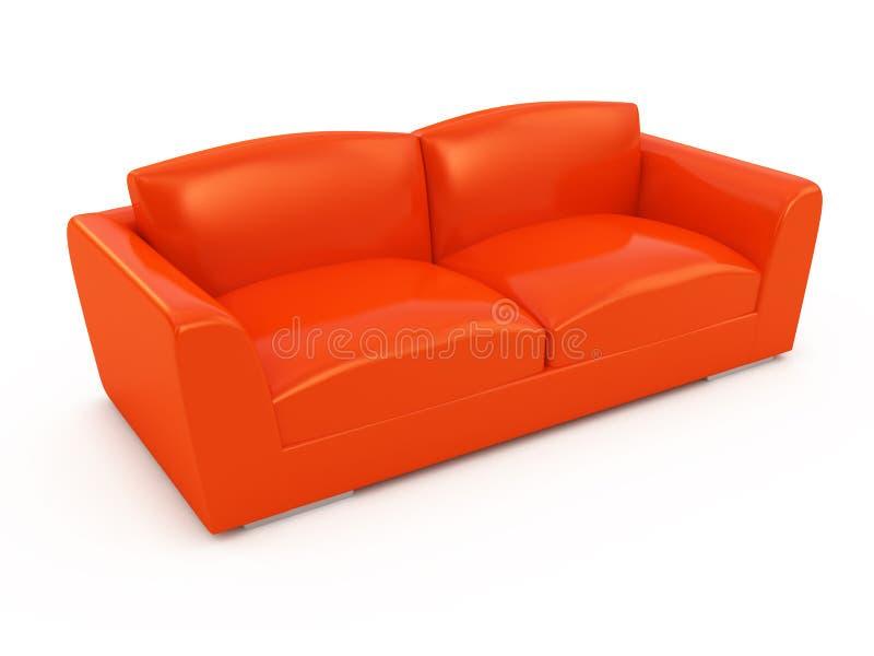 Modernes rotes Sofa vektor abbildung