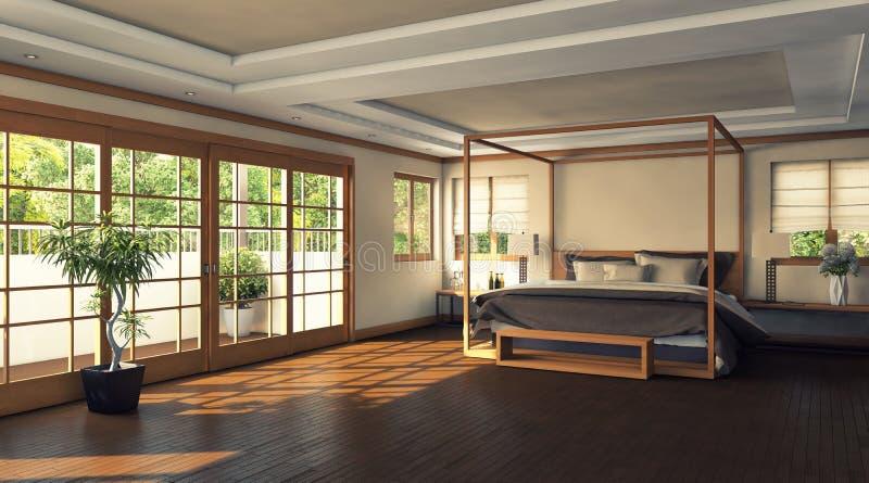 Download Modernes Schlafzimmer Stock Abbildung. Bild Von Foto   28959430