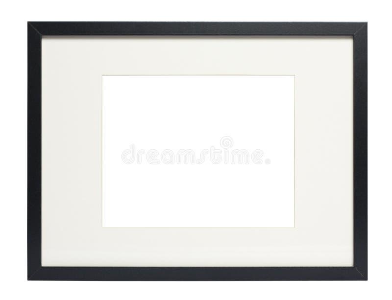 Modernes schwarzes Fotofeld (mit Ausschnittspfad) lizenzfreie stockfotos