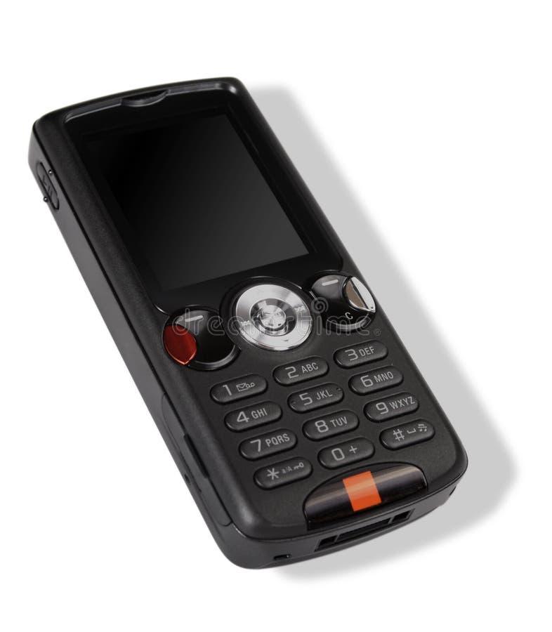 Modernes schwarzes Mobiltelefon stockbilder