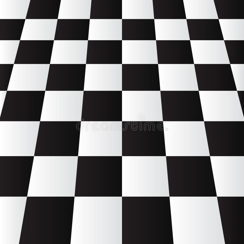 Modernes schwarzes weißes Schach Realictic oder Kontrolleurbrett-Perspektivenhintergrundentwurfsvektorillustration EPS10 vektor abbildung
