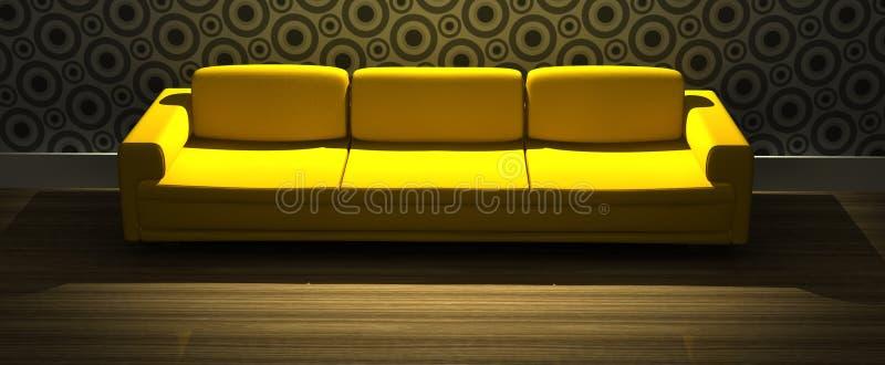 Modernes Sofa im Wohnzimmer stock abbildung