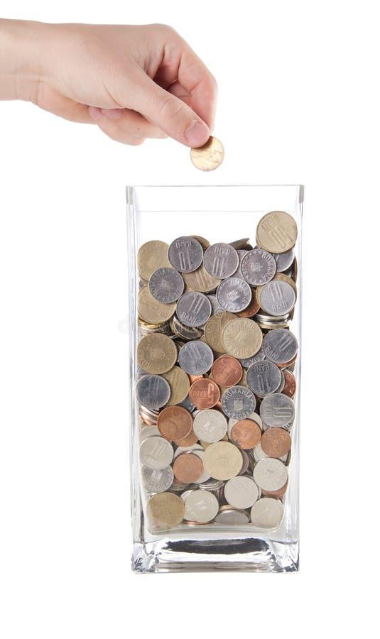 Modernes Sparungsgeldkonzept lizenzfreie stockfotos