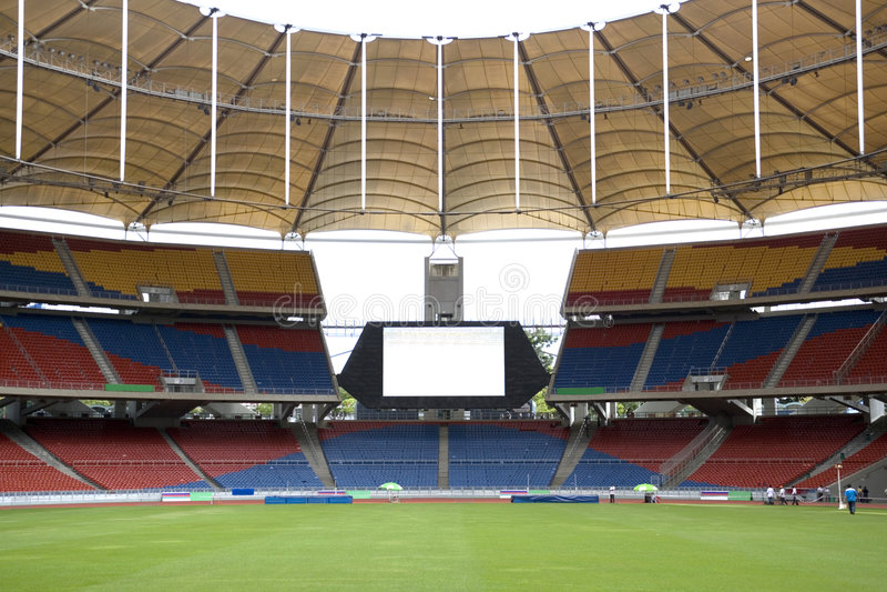 Modernes Stadion stockfotos