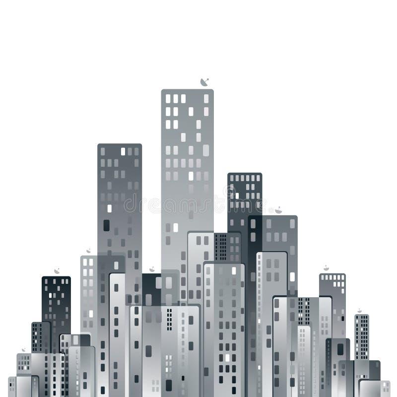 Modernes Stadt-Panorama lizenzfreie abbildung