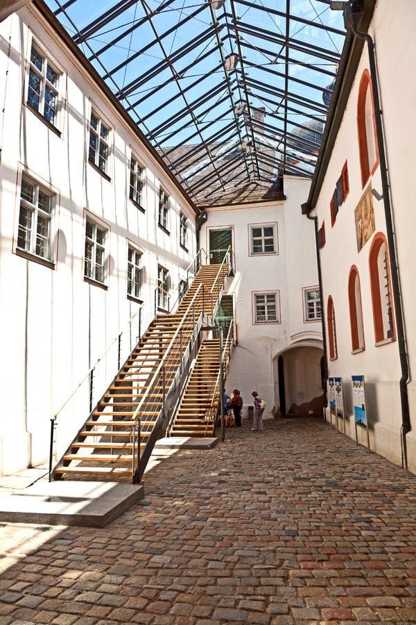 Modernes Teil des berühmten Klosters von Andechs mit Brauerei in Bavari lizenzfreie stockfotos