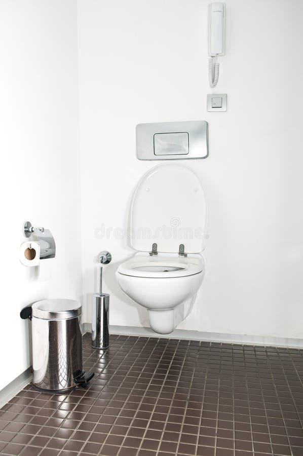 Modernes toilette stockbild
