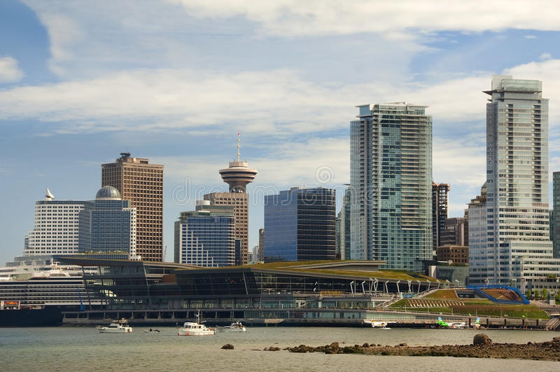 Modernes Vancouver lizenzfreies stockbild