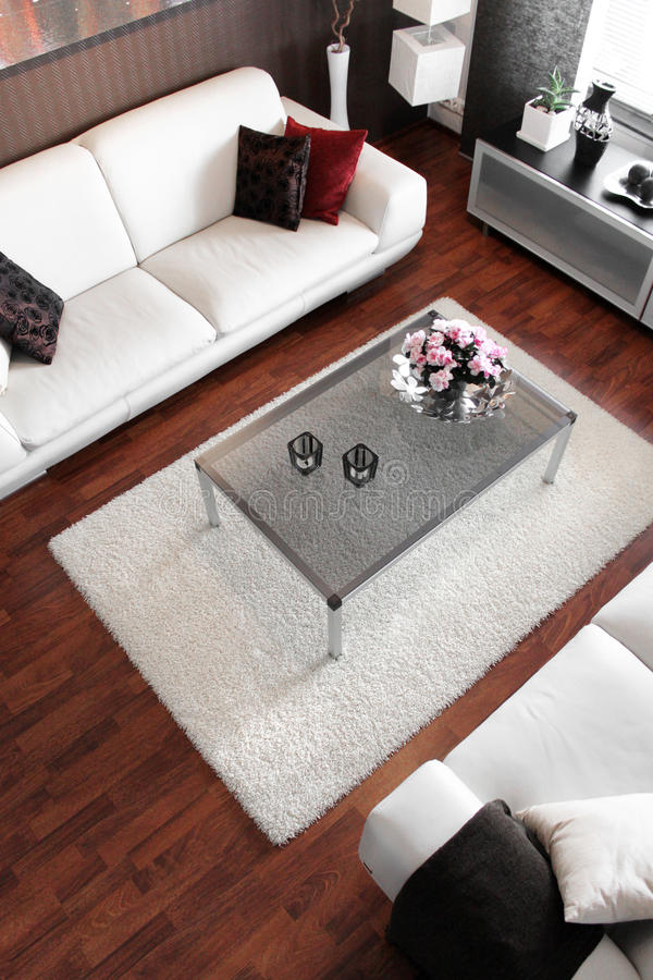 Modernes Wohnzimmer stockbild