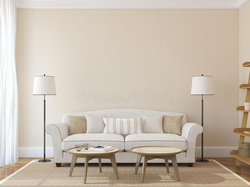 Modernes Wohnzimmer lizenzfreie abbildung