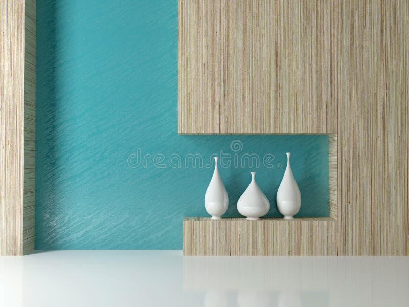 Modernes Wohnzimmerdesign. lizenzfreie abbildung