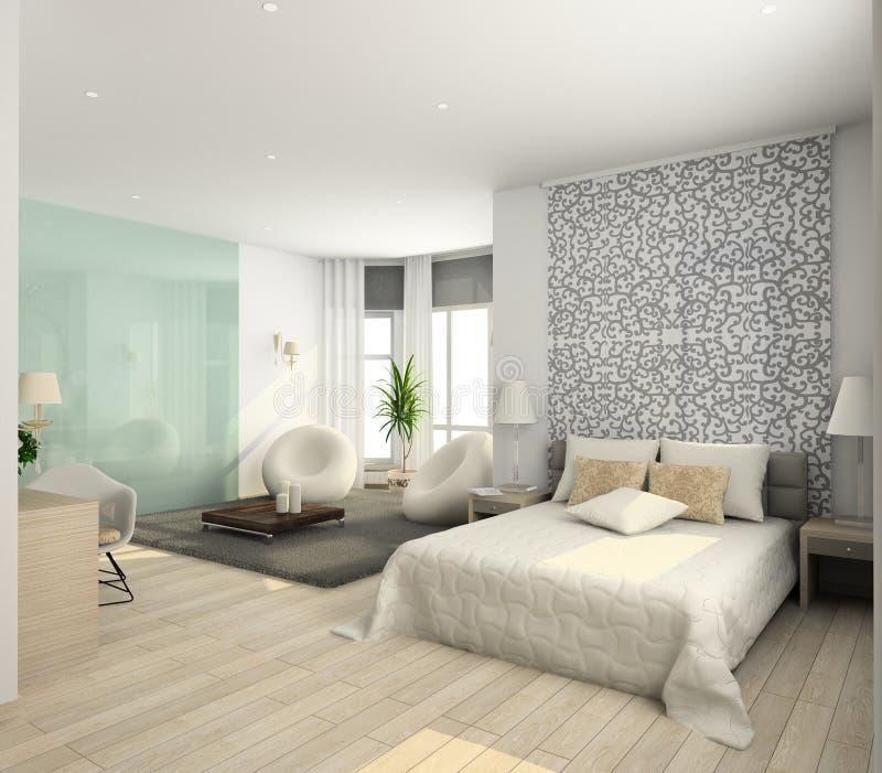 moderni interni 3d rendono illustrazione di stock
