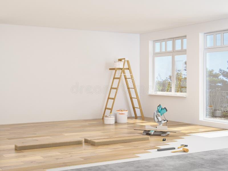Modernisation d'un appartement rendu 3d photo stock