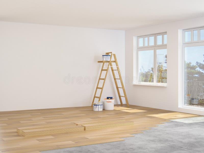 Modernisation d'un appartement rendu 3d photos stock