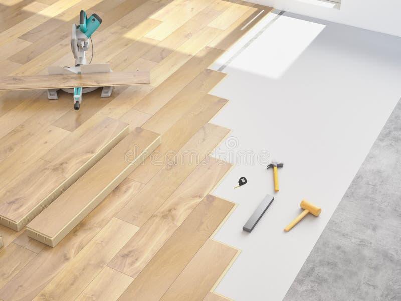 Modernisation d'un appartement rendu 3d photographie stock libre de droits