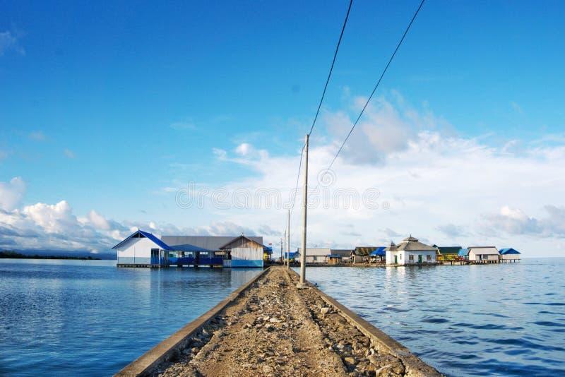 Modernisation de Kampung Bajo photo libre de droits