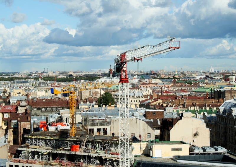 Modernisation du centre historique de la ville image stock