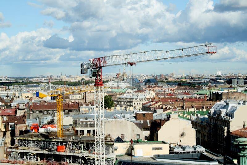 Modernisation du centre historique de la ville images stock