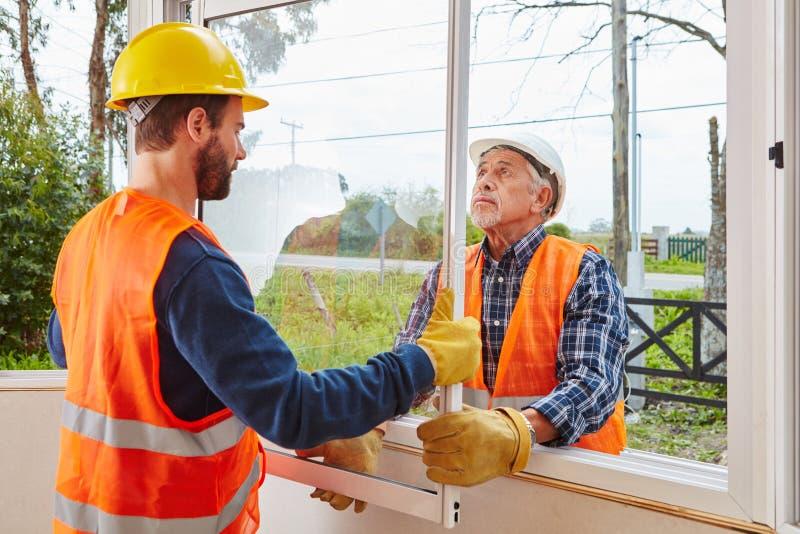 Modernisation et bâti de nouvelle fenêtre photographie stock libre de droits