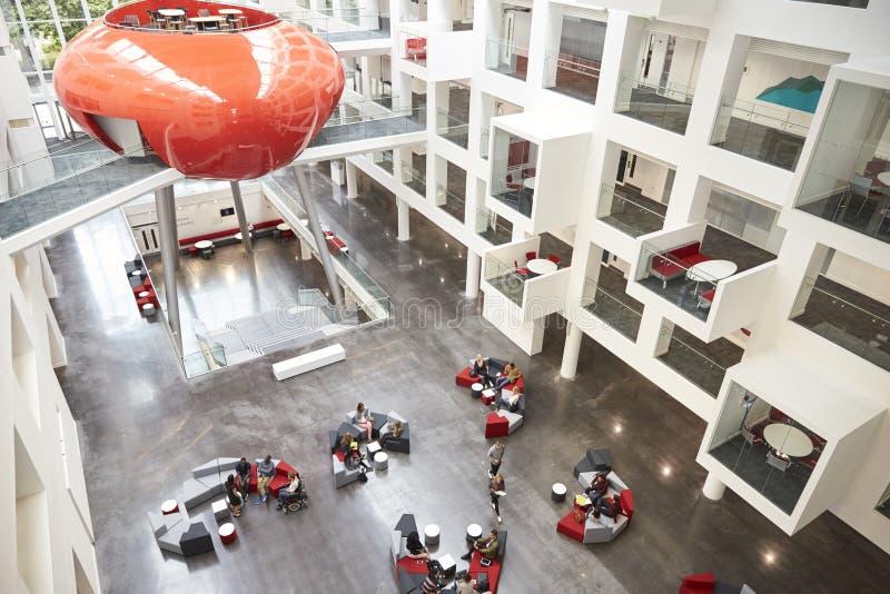 Modernist Interior Of A University Atrium, Elevated View Stock Image ...