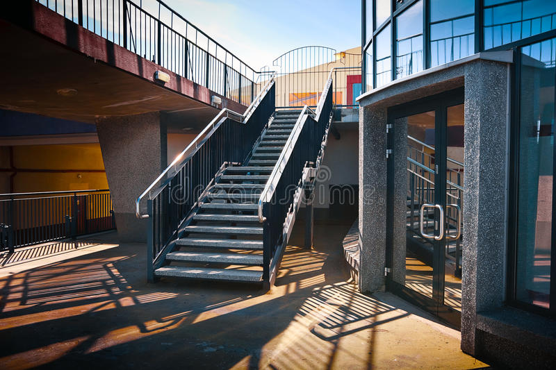 Modernist stairs royalty free stock photo