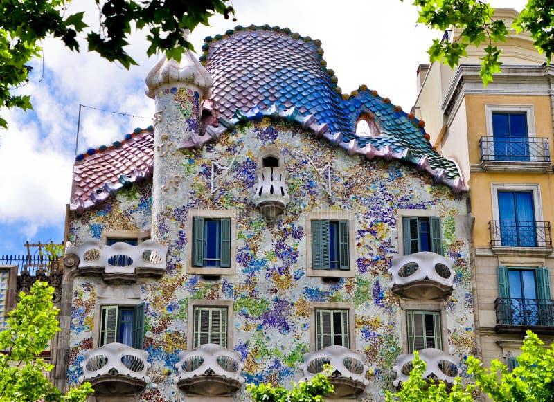 Modernista de Edificio - Barcelona España fotos de archivo