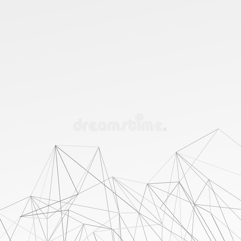 Modernistic abstract connection background layout royalty free illustration