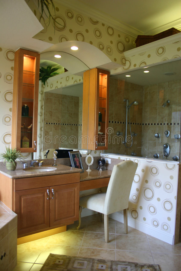 Download Modernistic Bathroom stock image. Image of decor, compartments - 2927927