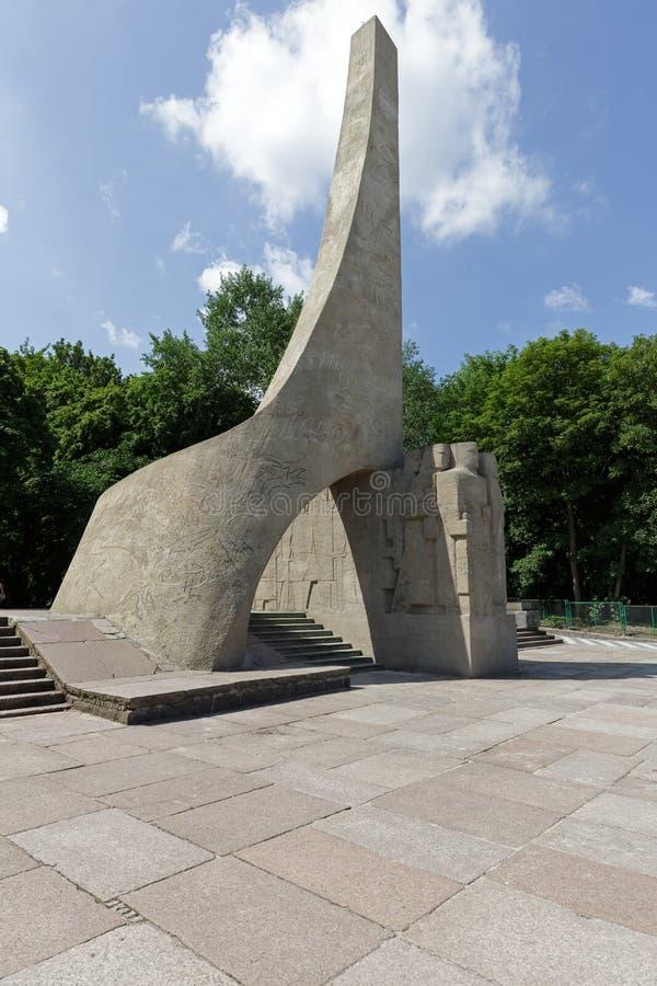 Modernistisk monument i Kolobrzeg arkivbilder