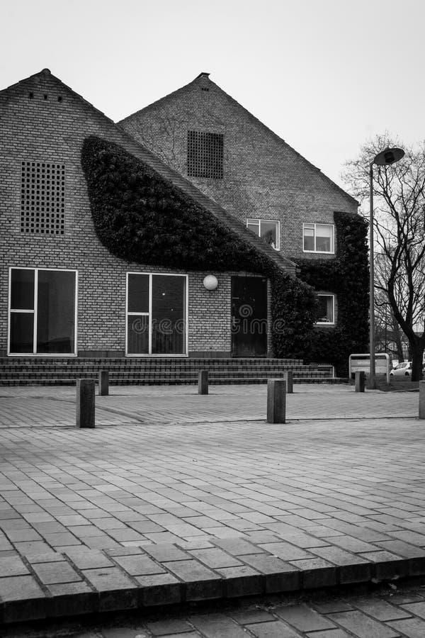 Modernistyczna architektura - Aarhus uniwersytet, Dani obraz stock