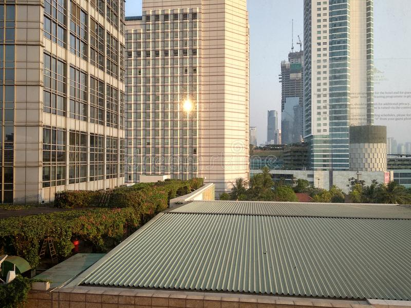 Modernity In The city. Tall, buildings, cityscape royalty free stock photo