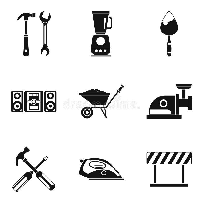 Modernizacj ikony ustawiać, prosty styl ilustracja wektor