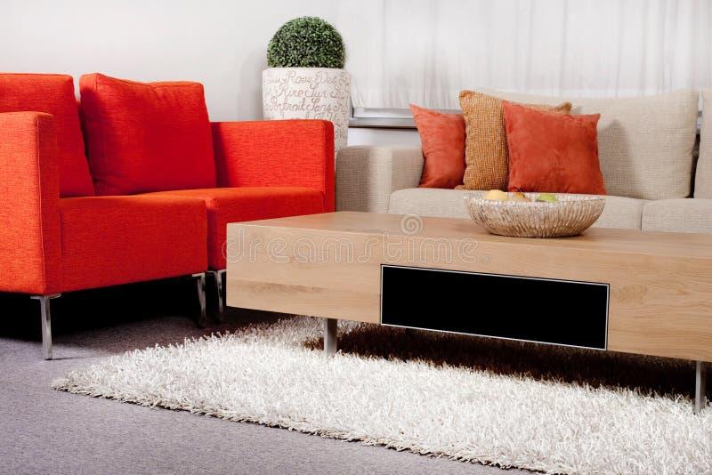 Modernized living room royalty free stock photography