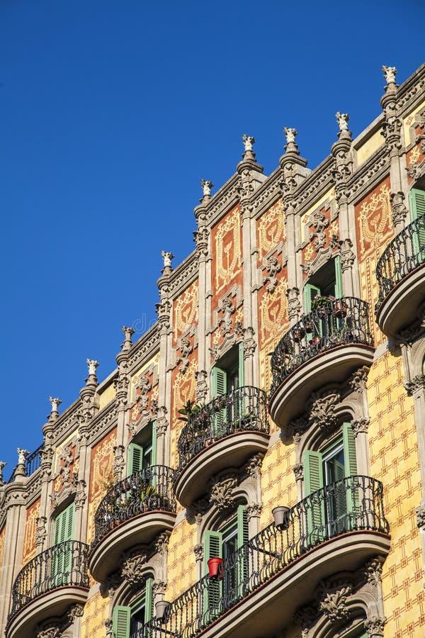 Modernizmu budynek w Eixample okręgu w Barcelona zdjęcia royalty free