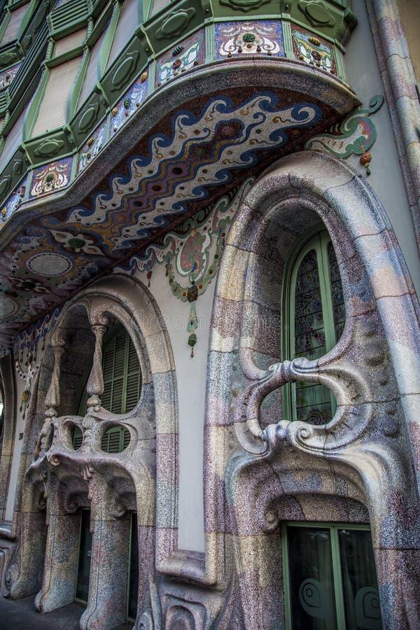 Modernizmu budynek w Eixample okręgu w Barcelona Catalonia S obraz stock