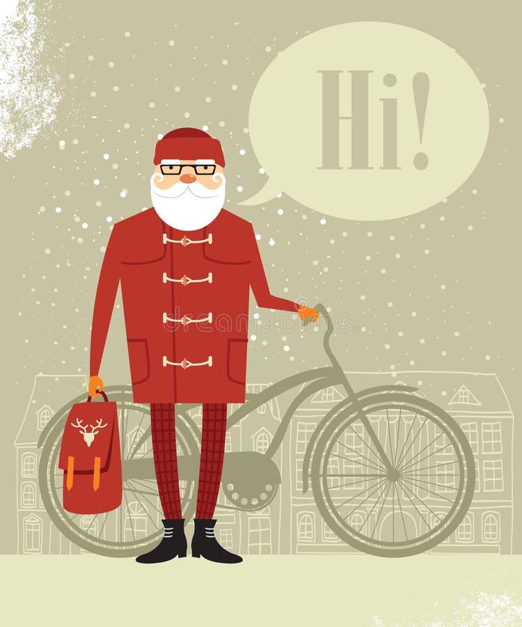 Moderno de Santa Claus ilustração stock
