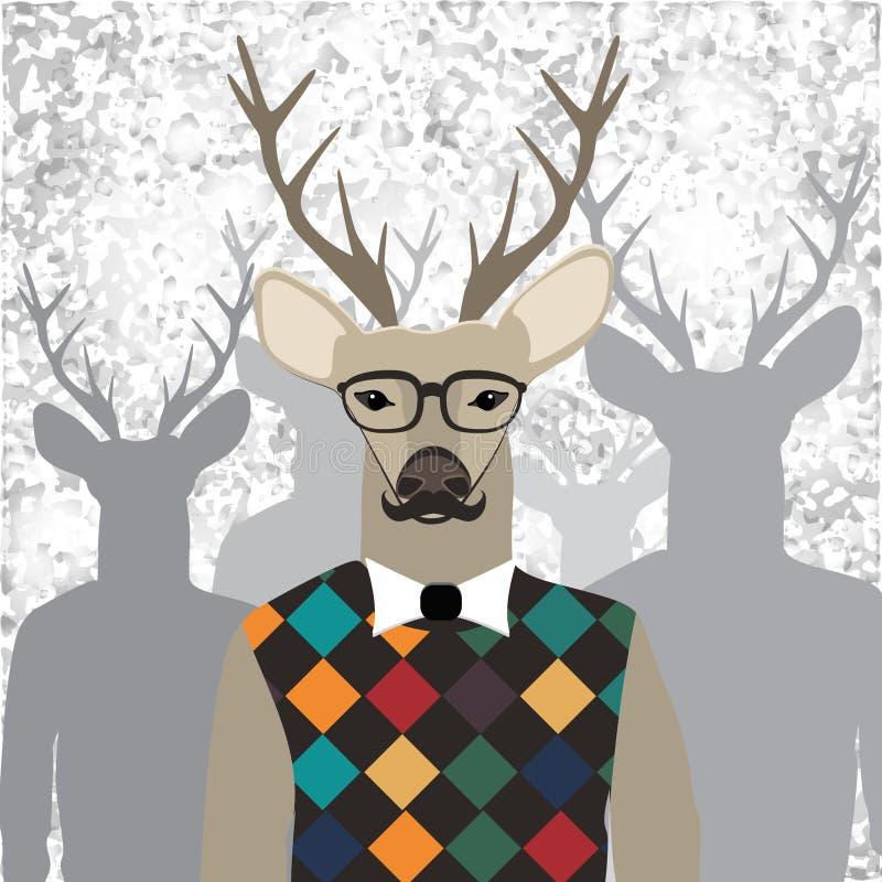 Moderno dos cervos ilustração stock