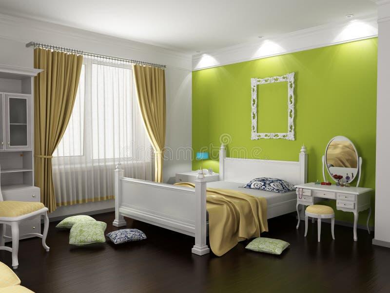moderno interno della camera da letto immagine stock