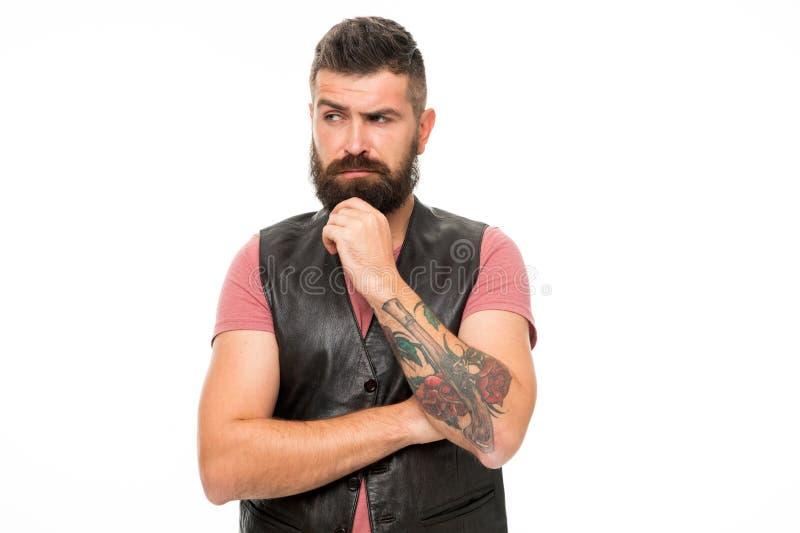 Moderno maduro com barba Homem farpado Cuidado do cabelo e da barba Cuidado facial Novo e brutal Cuidado masculino do barbeiro Pe foto de stock