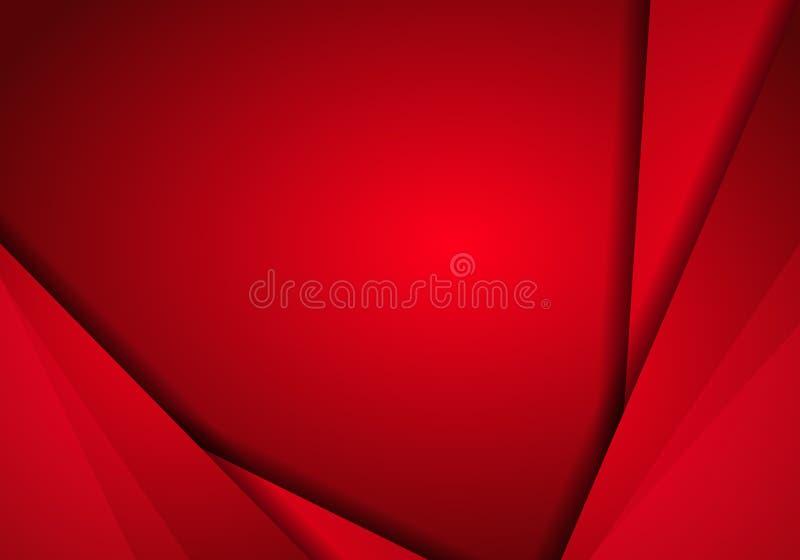 Moderno metálico do fundo com a bandeira vermelha do metal Abstra à moda ilustração royalty free