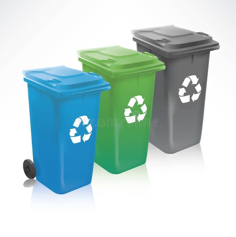 Moderno ricicli gli scomparti royalty illustrazione gratis