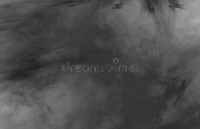Modernt abstrakt kort med den svarta vita abstrakta modellen på svart bakgrund för ramtryckdesign Modernt m?nstra arkivbild