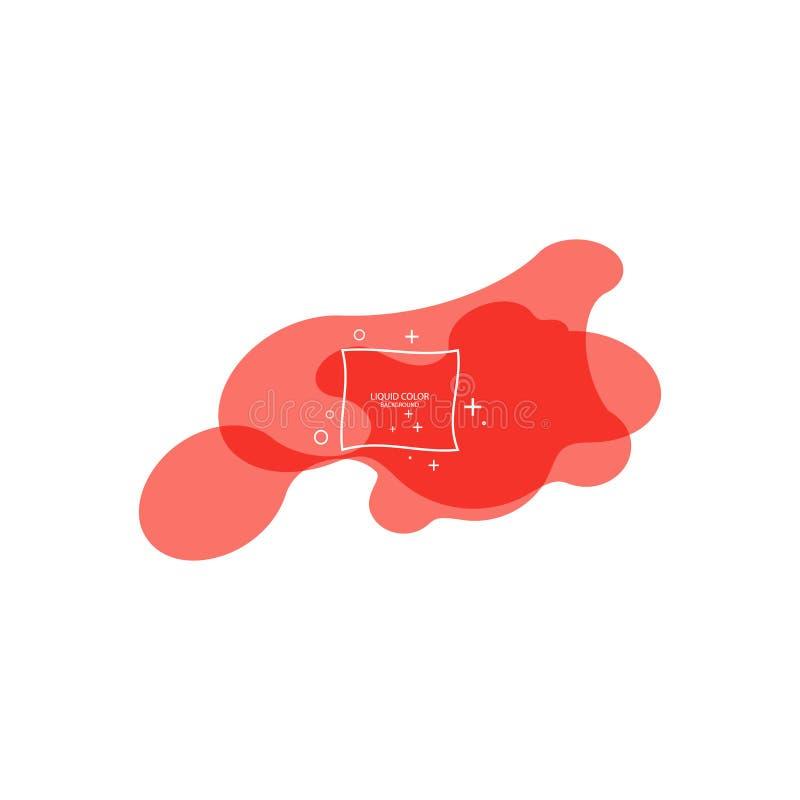 Modernt abstrakt vektorbaner Plan geometrisk vätskeform med att bo korallfärger Modern vektormall, mall f?r stock illustrationer